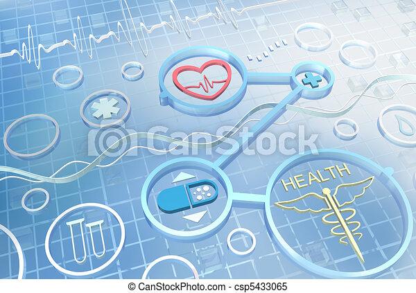 Medicina, fondo abstracto - csp5433065