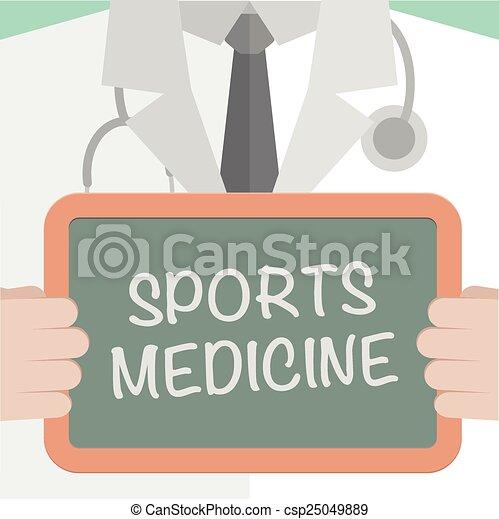 Medicina Sport Eps10 Dottore Lavagna Illustrazione