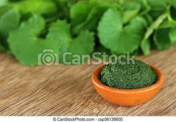 Medicinal thankuni leaves  - csp36138605