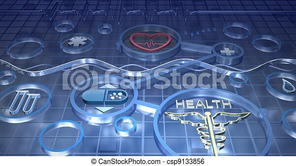 Medicine abstract background - csp9133856