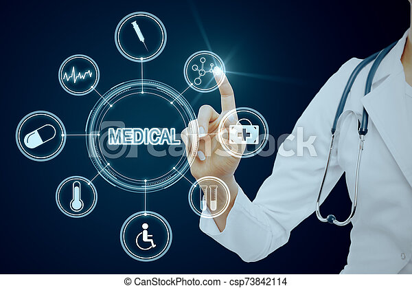 Medicine and display concept - csp73842114