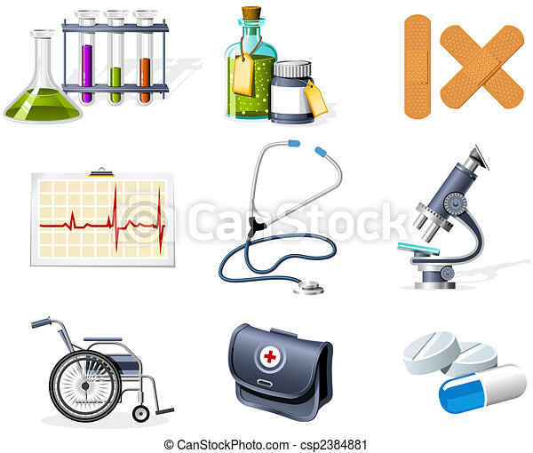 Medicine and Healthcare icons - csp2384881
