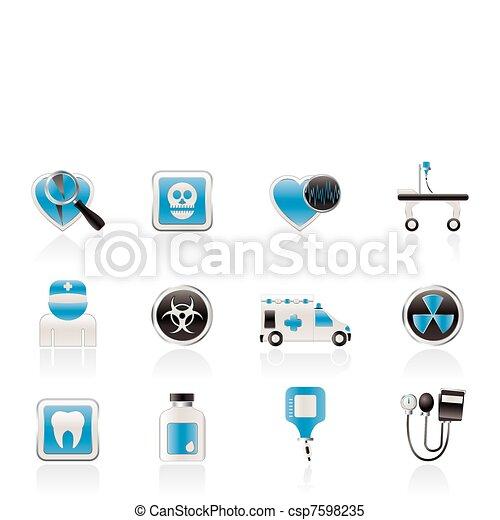 Medicine and hospital equipment - csp7598235