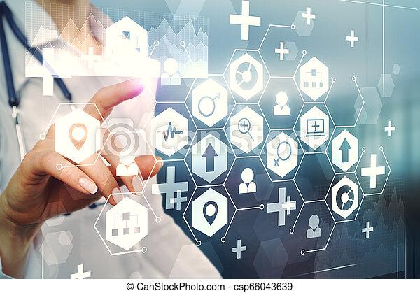 Medicine and innovation concept - csp66043639