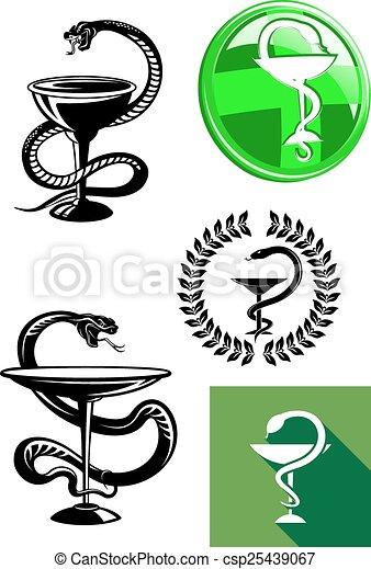 Medicine and pharmacy icons - csp25439067