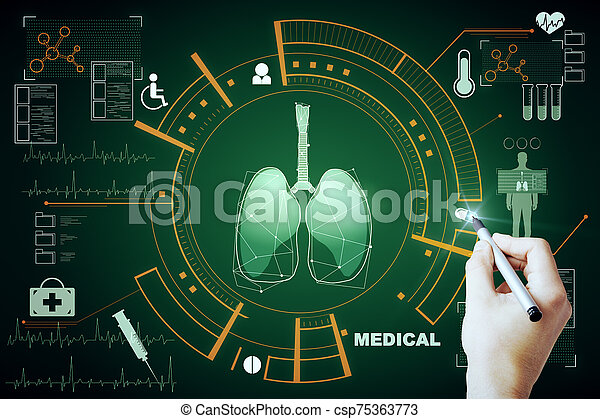 Medicine and science concept - csp75363773