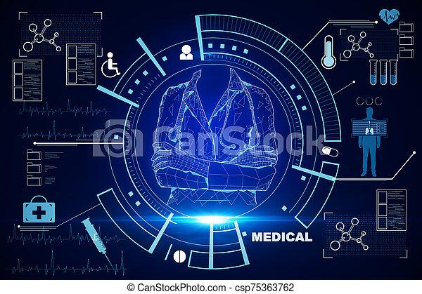 Medicine and science concept - csp75363762