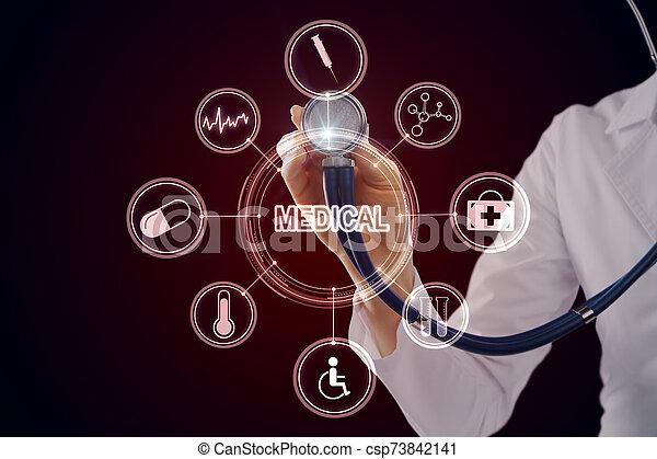 Medicine and science concept - csp73842141