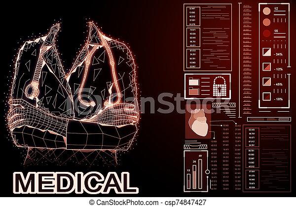 Medicine and science concept - csp74847427
