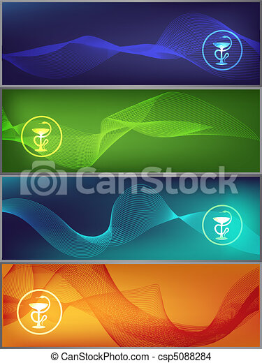 medicine banners - csp5088284