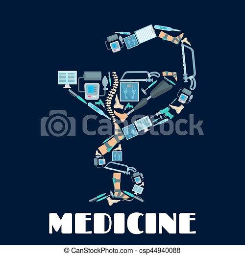 Medicine Bowl of Hygieia vector poster - csp44940088