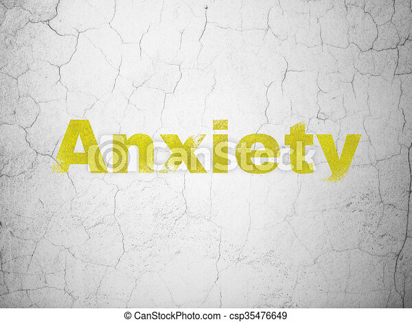 Medicine concept: anxiety on wall background. Medicine ...