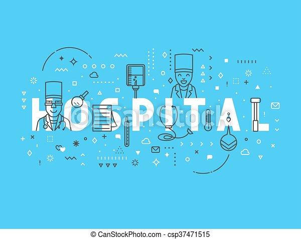 Medicine concept design hospital