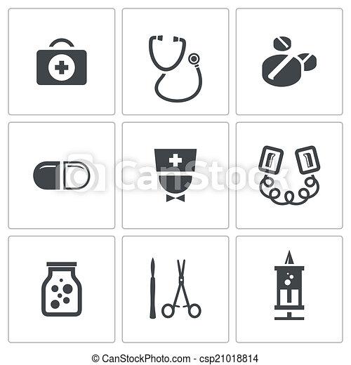 Medicine icons collection - csp21018814