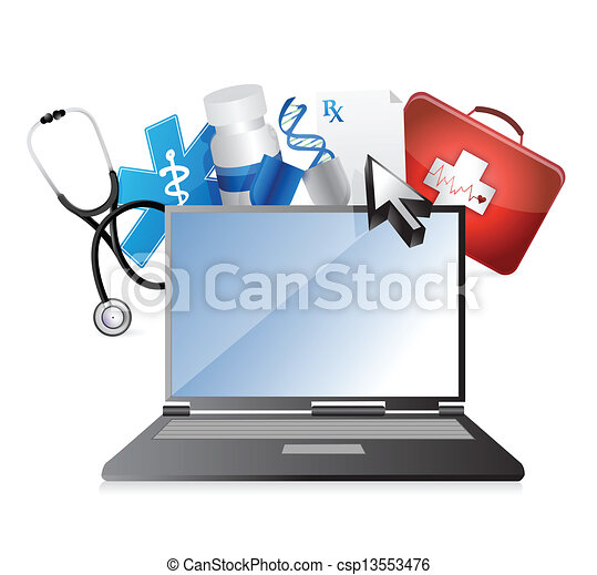 medicine, medical technology concept - csp13553476