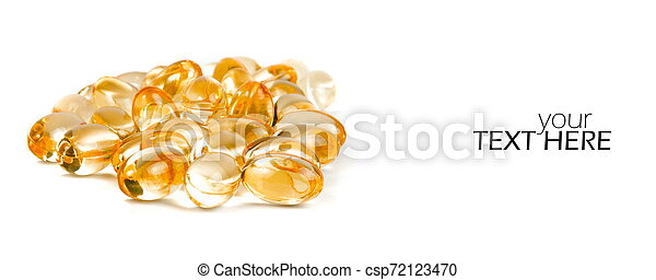 Medicine pills with the copy space - csp72123470