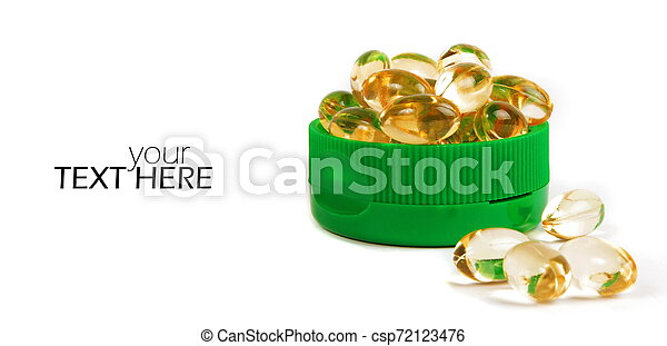 Medicine pills with the copy space - csp72123476