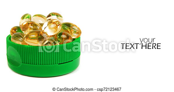 Medicine pills with the copy space - csp72123467