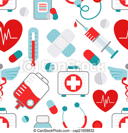 Medicine seamless pattern - csp21658832
