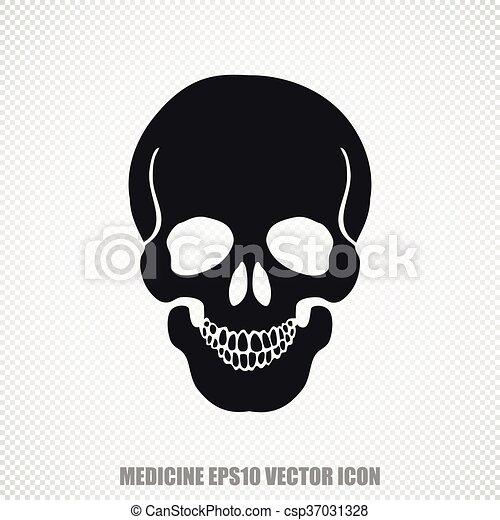 Medicine vector Scull icon. Modern flat design. - csp37031328