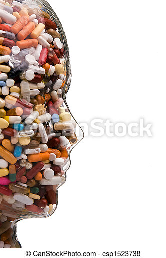 Medicines and tablets to cure disease - csp1523738