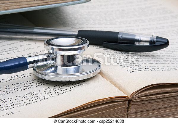 medicinsk, arbejdsbord - csp25214638