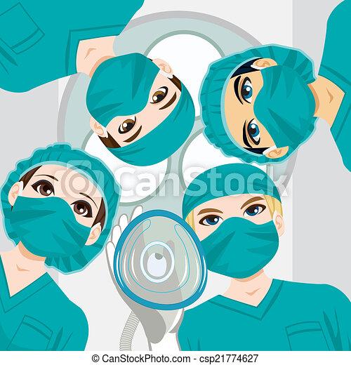 medicinsk, arbete, lag - csp21774627