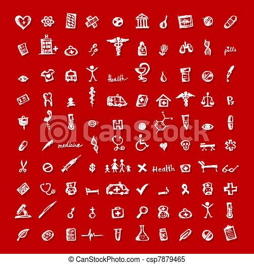 medicinsk, design, din, ikonen - csp7879465