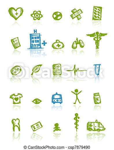 medicinsk, design, din, ikonen - csp7879490