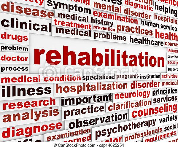 medicinsk, meddelelse, rehabilitering - csp14625254