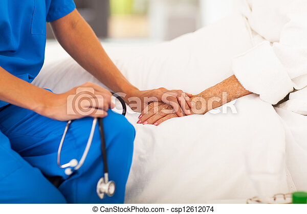 medicinsk, tålmodig, senior, läkare - csp12612074