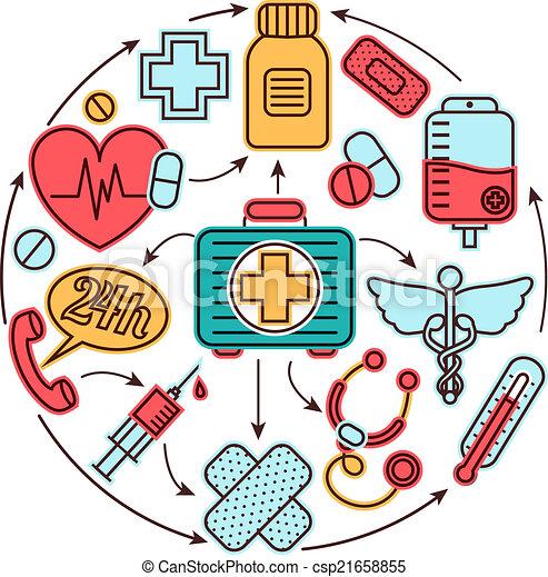 medicinskt begrepp, ikonen - csp21658855