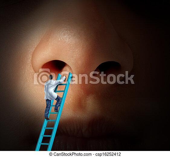 medico, naso, cura - csp16252412