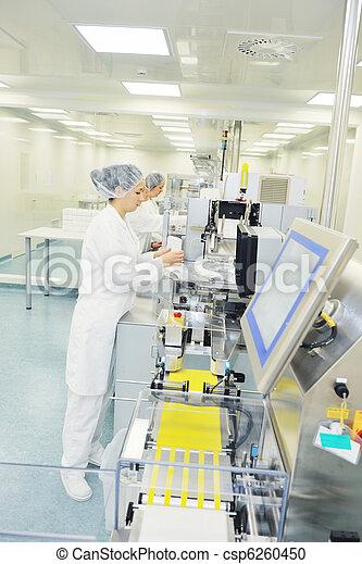 medico, produzione, fabbrica, interno - csp6260450