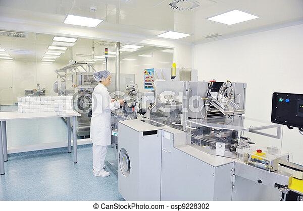 medico, produzione, fabbrica, interno - csp9228302