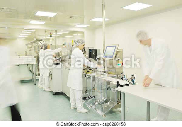 medico, produzione, fabbrica, interno - csp6260158