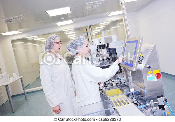 medico, produzione, fabbrica, interno - csp9228378