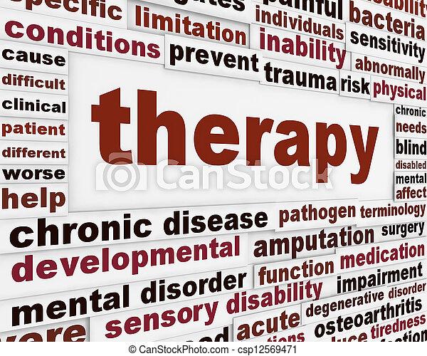 medico, terapia, fondo, creativo - csp12569471