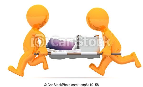 medics, cassé, porter, pc - csp6410158
