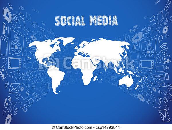 medien, abbildung, sozial - csp14793844