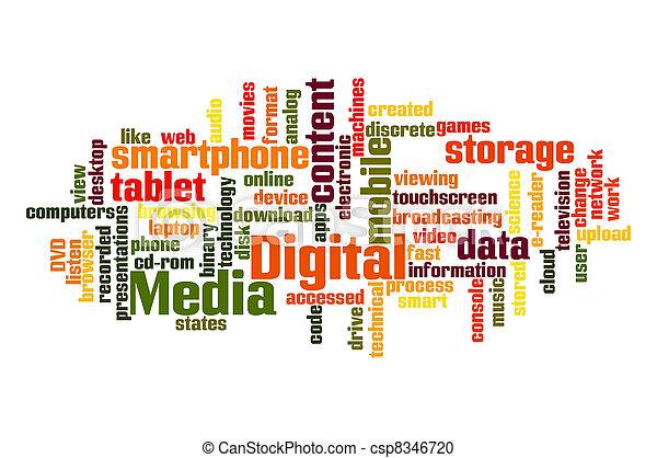 medien, digital - csp8346720