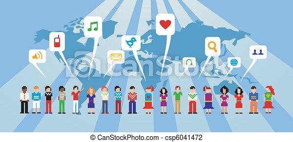 medier, netværk, sociale - csp6041472
