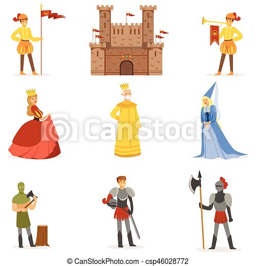medieval cartoon characters and european middle ages historic period rh canstockphoto com