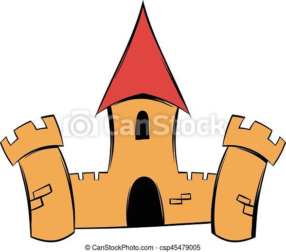 medieval castle fortress icon cartoon medieval castle vector rh canstockphoto com castle victorian castle victoria