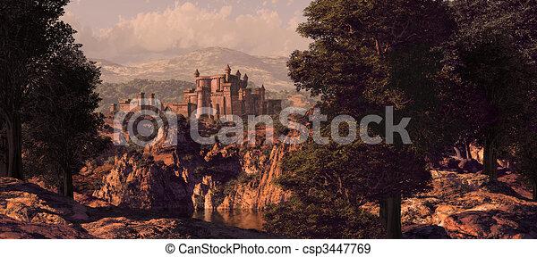Medieval Castle Landscape - csp3447769