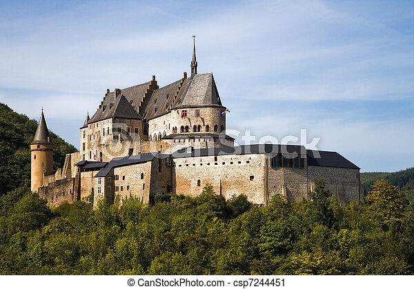 Medieval Castle of Vianden, Luxembourg - csp7244451