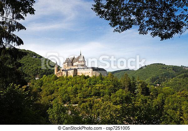 Medieval Castle of Vianden, Luxembourg - csp7251005