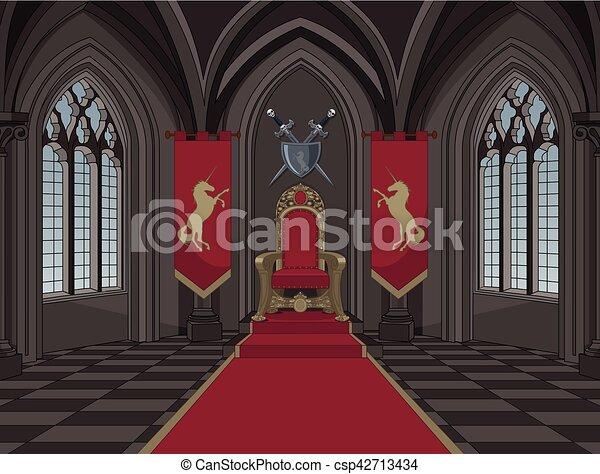 Medieval Castle Throne Room - csp42713434