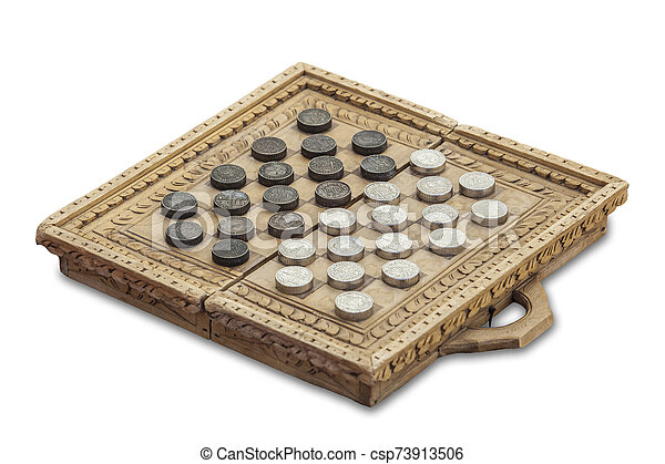 Medieval checkers or draughts - csp73913506