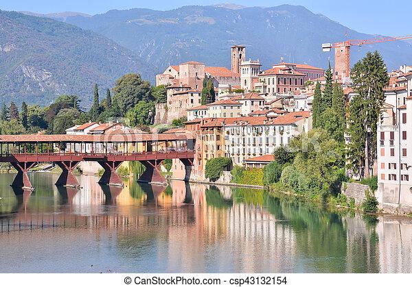 Medieval City Bassano del Grappa - csp43132154